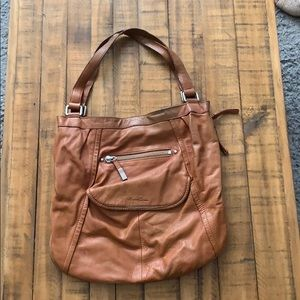 Camel colored Kenneth Cole shoulder bag